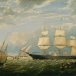 Famous Boat Paintings The Golden State Entering New York Harbor