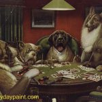Famous Dog Paintings Dogs Playing Poker Painting Sold For Six Hundred