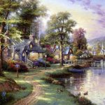 Famous Paintings Thomas Kinkade American Painter
