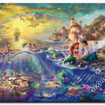 Famous Picture Print Thomas Kinkade The Little Mermaid