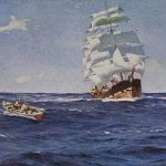 Famous Sailing Ship Paintings Somerscales Vintage Art
