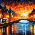 Farewell Original Oil Canvas Painting Leonidafremov
