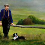 Farmer And Dog Cloghane Kerry Ireland
