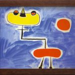 Figur Vor Roter Sonne Joan Miro Painting Canvas