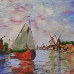 Fishing Boats Claude Monet Famous Oil Painting Reproductions