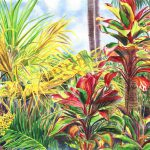 Floravita Tropical Flower Painting Hawaiian Island Art