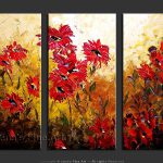 Flower Art Asters Painting Red