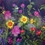Flower Garden Oil Painting Out Darkness Marina Petro