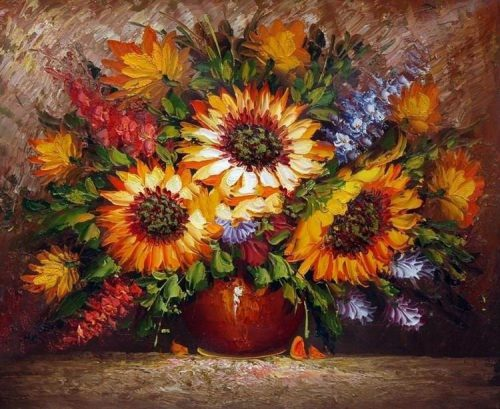 Flowers Art Decor Painting Canvas
