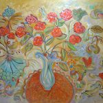 Flowers Butterflies Painting Canvas