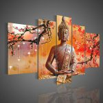 Framed Free Shipping Wall Art Religion Buddha Oil Painting Canvas