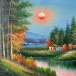 Free Oil Paintings Canvas For Sale Floating Frame Painting