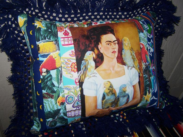 Frida Kahlo Designer Pillows Made Mexican Fabrics And Vintage