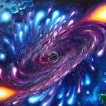 Gaura Neagra Pictura Ulei Panza Black Hole Oil Canvas Painting