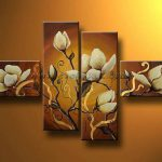 Genuine Framed Hand Painted Modern Flower Art Oil Painting Canvas