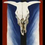 Georgia Keeffe Cow Skull Red White And Blue