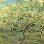 Gogh Vincent Van Orchard Blossoming Plum Trees Painting