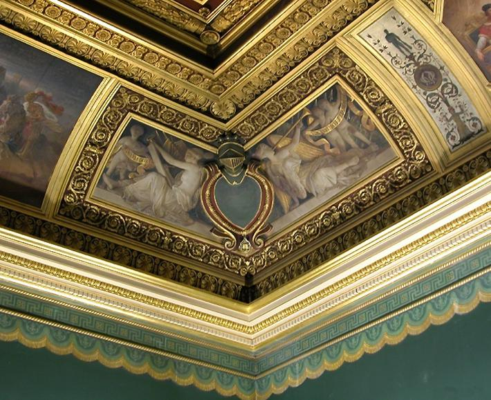 Greek Antiquities Decorating Painting Ceiling