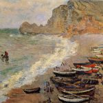 Hand Painted Oil Painting Reproduction Canvas Beach Etretat