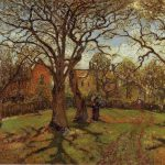 Hand Painted Oil Painting Reproduction Canvas Chestnut Trees