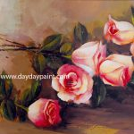 Handmade Flower Paintings Hand