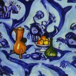 Henri Matisse Art Blue Table Cloth