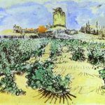 High Hill Famous Art Work Drawing Vincent Van Gogh