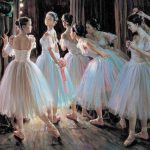 Home Offer Portrait Painting Ballet Girls Oil