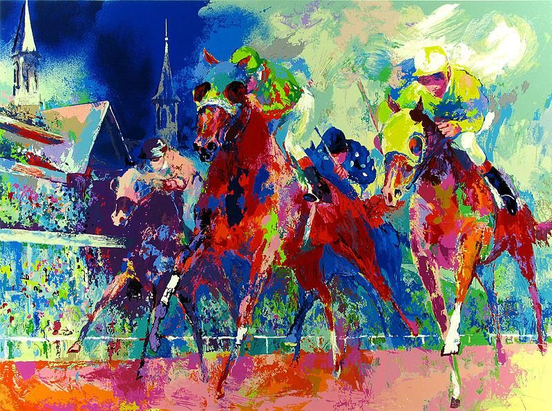 Horse Racing Painting