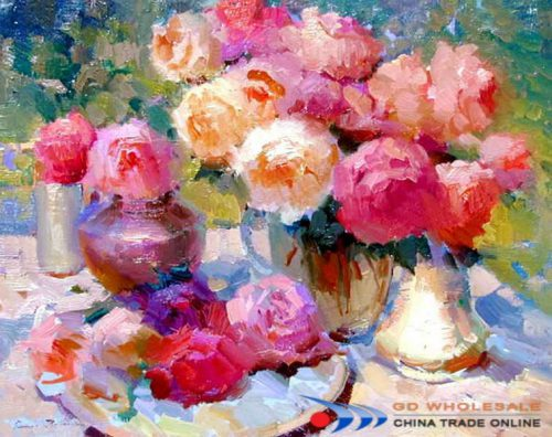 Impressionistic Flower Oil Painting