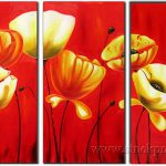 Irises Modern Flower Paintings Impressionist Style