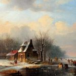 Jacobus Van Der Stok Paintings Winter Painting