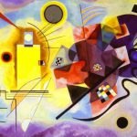 Kandinsky Paintings Wassily Yellow Red Blue Painting