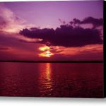Lake Sunset Stretched Canvas Print Art Evelyn Patrick