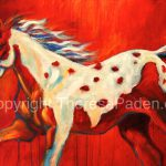 Large Abstract Horse Painting Theresa Paden