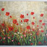 Large Art Paintings Canvas Impressionist Palette Knife Flower