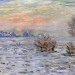 Larger View Claude Monet Winter The Seine Lavacourt