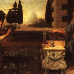 Leonardo Vinci Paintings Annunciation