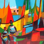 Les Marins Grec Marcel Mouly Limited Edition Print Lithograph