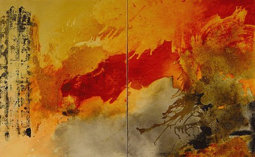 Michel Leah Keck Expressive Abstract Paintings