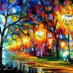 Mistical Alley Original Oil Canvas Painting Leonidafremov