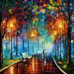 Misty Mood Original Oil Canvas Painting Leonidafremov