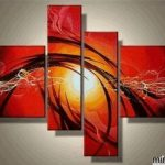 Modern Abstract Paintings Canvas Sets Wall Art Pieces Acrylic