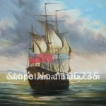 Modern Famous Paintings Handmade Abstract Boat Oil Hot Sale