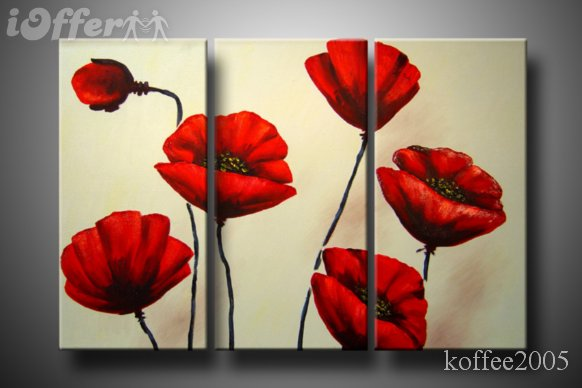Modern Flower Art Oil Canvas Painting Bdbba