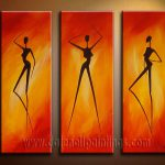 Modern Oil Paintings Canvas Abstract Painting Set