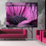 Modern Painting Purple Flower Click Enlarge