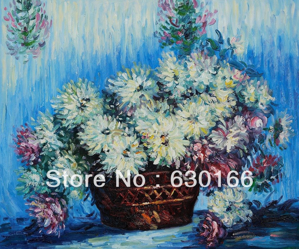 Monet Oil Painting Reproduction For Sale Chrysanthemums Paintings