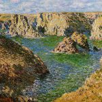 Monet Oil Painting Reproduction Port Donnant Belle Ile Claude
