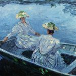 Monet Oil Painting Reproduction The Blue Row Boat Claude